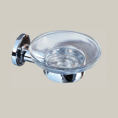 Mydelniczka szklana, mosiądz chromowany, seria MODERN