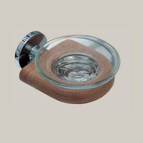 Mydelniczka szklana, elementy drewniane, seria D