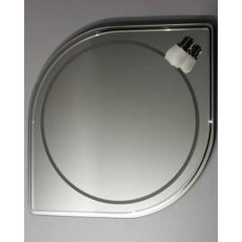 Lustro z oświetleniem L133, 70x70 cm