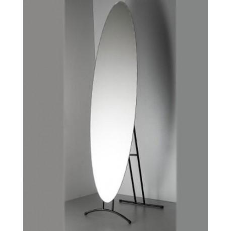 Lustro owalne z ozdobnymi fazowanymi krawędziami 150x50 cm LK1
