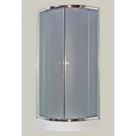 Kabina natryskowa GALATEA 80x80 cm, szkło mgliste + brodzik